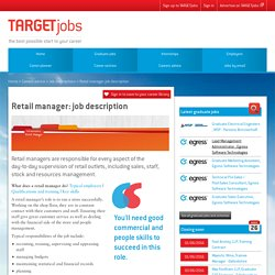 Retail manager: job description