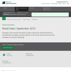 Retail Sales - Office for National Statistics