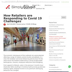 How retail sector are Responding to Covid 19 Challenges - Simply Solved