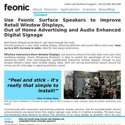 Retail Window Displays + Sound: Store Sales Surge by 40%