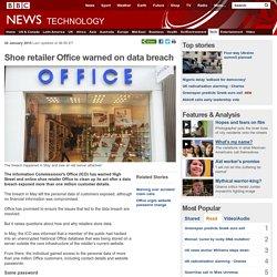 Shoe retailer Office warned on data breach