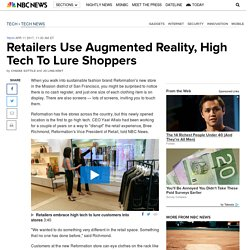 Retailers Use Augmented Reality, High Tech To Lure Shoppers
