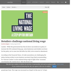 Retailers challenge national living wage