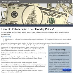 How Do Retailers Set Their Holiday Prices? - Georgia State University