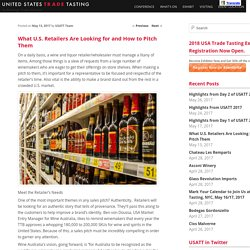 What U.S. Retailers Are Looking for and How to Pitch ThemUSA Trade Tasting Blog