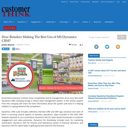 How CRM is helping retailers in staying ahead of the competitors