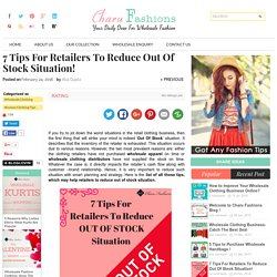 7 Tips For Retailers To Reduce Out Of Stock Situation