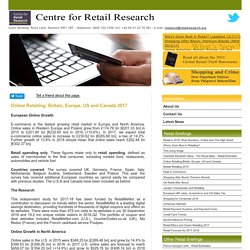 Online Retailing Research - Centre for Retail Research, Nottingham UK