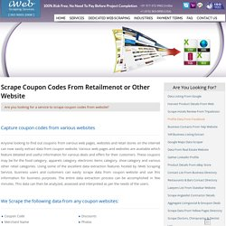 Scrape Coupon Codes, Retailmenot Scraping, Coupon Listing Extraction