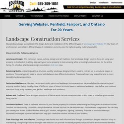 Patios Webster NY, Walkways, Retaining Wall Installation Penfield, Ontario, Pittsford, Victor