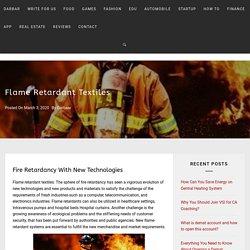 Flame Retardant Textiles 100% Fire Proof Garments