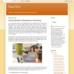 SureVin: Working Benefits of Retargeting in Advertising