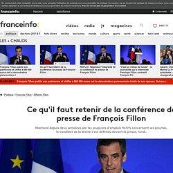 Ce qu'il faut retenir de la conférence de presse de François Fillon