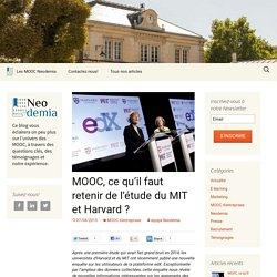 MOOC, ce qu'il faut retenir de l'étude du MIT et Harvard ? - Blog Neodemia