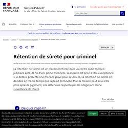Rétention de sûreté pour les criminels