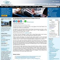 EU Data Retention Directive Declared In Violation Of EU Law