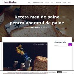 Reteta mea de paine pentru aparatul de paine - Ama Nicolae