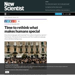 Time to rethink what makes humans special