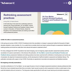 Rethinking assessment practices