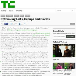 Rethinking Lists, Groups and Circles