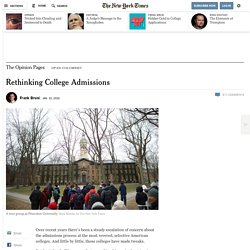 Rethinking College Admissions