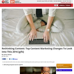 Rethinking Content: Top Content Marketing Changes To Look Into This 2016 [gifs]