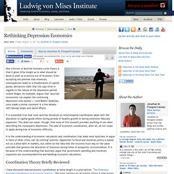 Rethinking Depression Economics - Jonathan M. Finegold Catalan
