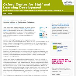 Oxford Centre for Staff and Learning Development » Second edition of Rethinking Pedagogy