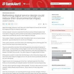Rethinking digital service design could reduce their environmental impact