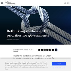 David et Alex - Rethinking resilience: Ten priorities for governments