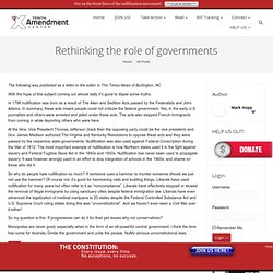 Rethinking the role of governments