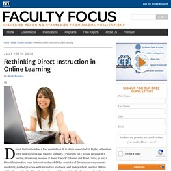 Rethinking Direct Instruction in Online Learning