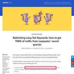 Rethinking Long Tail Keywords: how to get TONS of traffic from 'unpopular' search queries