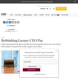 Rethinking Luxury CEO Pay