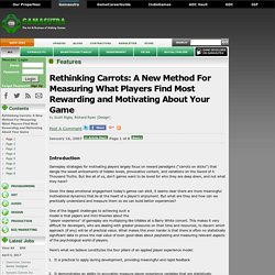 Rethinking Carrots: A New Method For Measuring What Players Find Most Rewarding and Motivating About Your Game