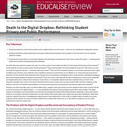 Death to the Digital Dropbox: Rethinking Student Privacy and Public Performance