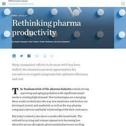 Rethinking pharma productivity