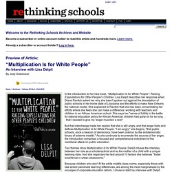 Multiplication Is for White People - Rethinking Schools Online