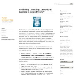 Rethinking Technology, Creativity & Learning in the 21st Century