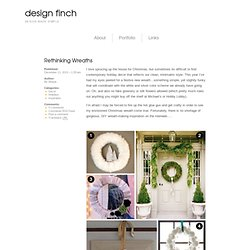 Rethinking Wreaths – design finch
