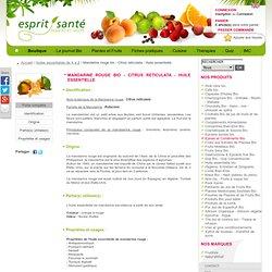 Mandarine rouge bio - Citrus reticulata - Huile essentielle