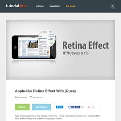 Apple-like Retina Effect With jQuery
