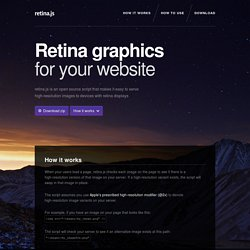 Retina graphics for your website