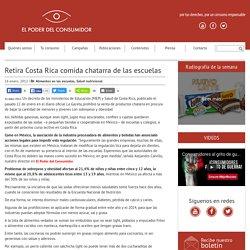 Retira Costa Rica comida chatarra de las escuelas