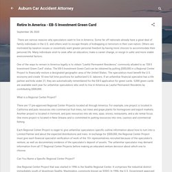 Retire In America - EB-5 Investment Green Card