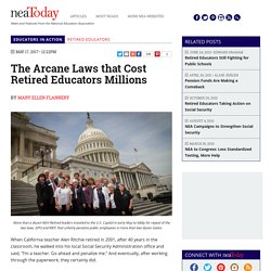 The Arcane Laws that Cost Retired Educators Millions