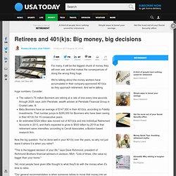Retirees and 401(k)s: Big money, big decisions