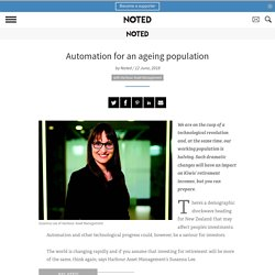 Retirement savings: Automation for an ageing population - Noted