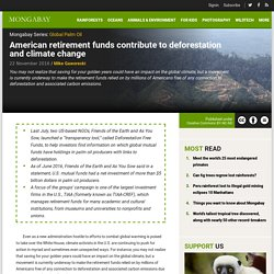 American retirement funds contribute to deforestation and climate change