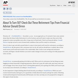 About To Turn 50? Check Out These Retirement Tips From Financial Advisor Donald Dirren